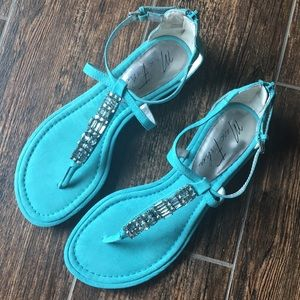 Marc Fisher Turquoise Jewel Sandals